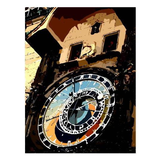 Praha Clock tower Postcard