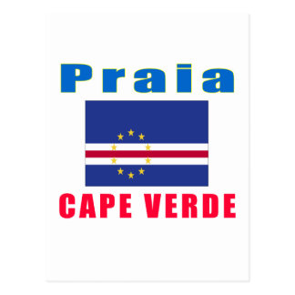 Praia Cape Verde capital designs Postcard