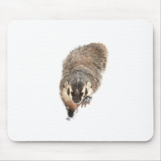 Prairie Badger in Winter snow Mouse Pad