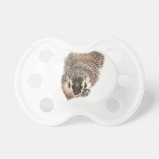 Prairie Badger in Winter snow Pacifiers