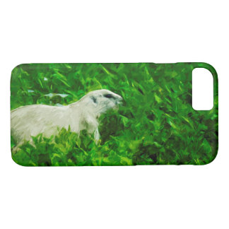 Prairie Dog Abstract Impressionism iPhone 7 Case