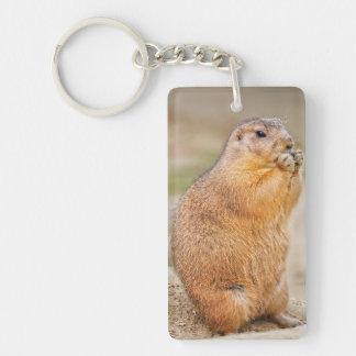 Prairie dog Double-Sided rectangular acrylic keychain
