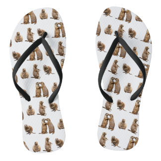 Prairie Dog Frenzy Flip Flops (choose colour)