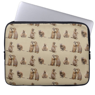 Prairie Dog Frenzy Laptop Sleeve (Gold)