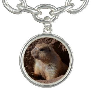 Prairie Dog in Hole Charm Bracelet
