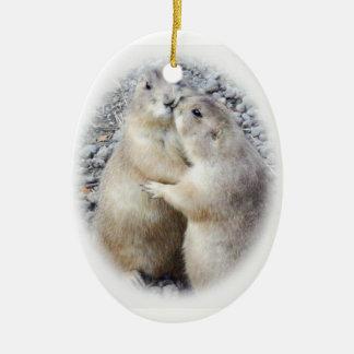 Prairie Dog Kiss Ornament