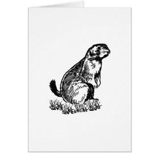 Prairie Dog Logo (line art) Card
