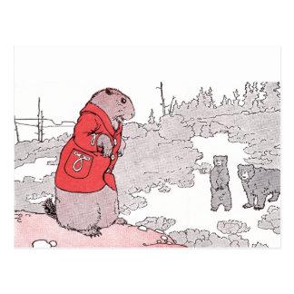 Prairie Dog Says Goodbye to Bears Postcard