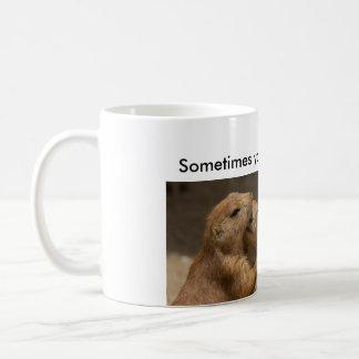 Prairie Dogs Hugging Coffee Mug