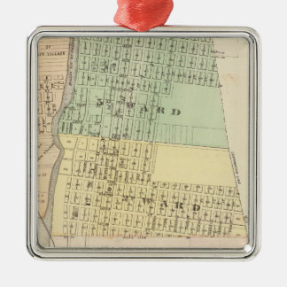 Prairie du Chien, county seat of Crawford Co Metal Ornament