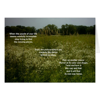 Prairie Flowers Card With Puzzle Poem