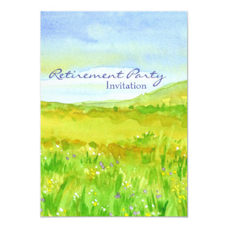 Prairie Grass Meadow Retirement Party Invitation