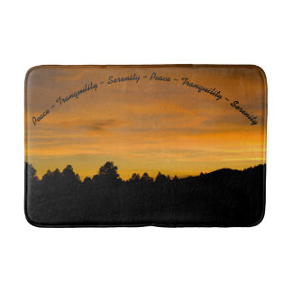 Prairie Hills At Sunset Photograph Bath Mat