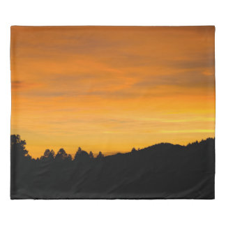Prairie Hills At Sunset Photograph Duvet Cover