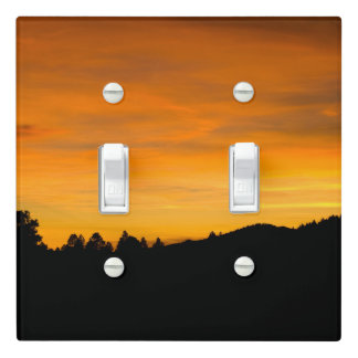 Prairie Hills At Sunset Photograph Light Switch Cover