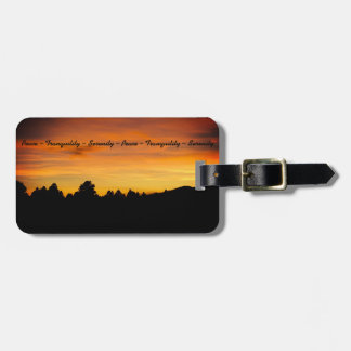 Prairie Hills At Sunset Photograph Luggage Tag