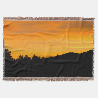 Prairie Hills At Sunset Photograph Throw Blanket