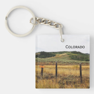 prairie in Colorado Keychain
