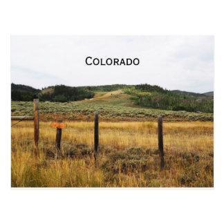 prairie in Colorado Postcard