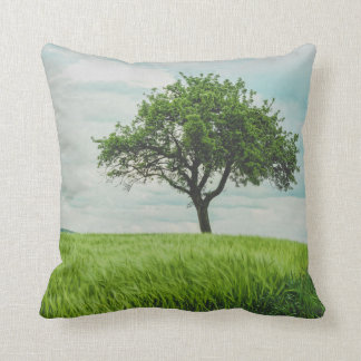 Prairie in spring throw pillow