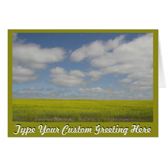 Prairie Landscape Cards Manitoba Personalized Card