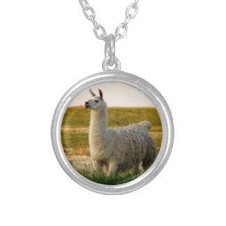 Prairie Llama Mama Silver Plated Necklace