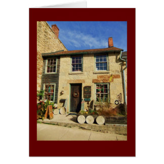 Prairie Oak Artican Facade with Burgundy Border Card