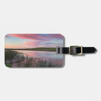 Prairie Pond Reflects Brilliant Sunrise Clouds Bag Tag