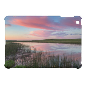 Prairie Pond Reflects Brilliant Sunrise Clouds Case For The iPad Mini