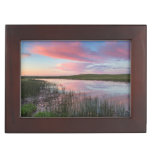 Prairie Pond Reflects Brilliant Sunrise Clouds Keepsake Box
