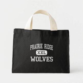 Prairie Ridge - Wolves - High - Crystal Lake Mini Tote Bag