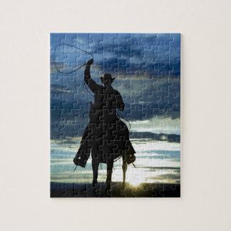 Prairie riding rope cowboy jigsaw puzzle