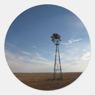 Prairie Sentinel Round Sticker