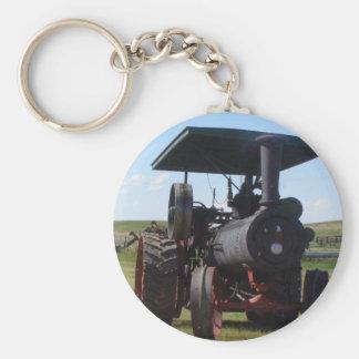 Prairie Steam Tractor Keychain