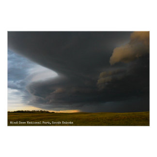 Prairie Storm Clouds - Wind Cave Poster