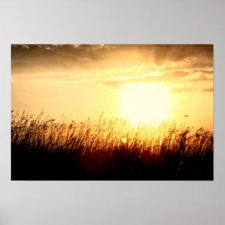 Prairie Sunrise Poster