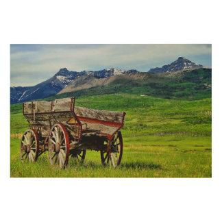 Prairie Wagon Trail's End Wood Panel