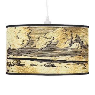 Prairie Woodcut Pendant Lamp