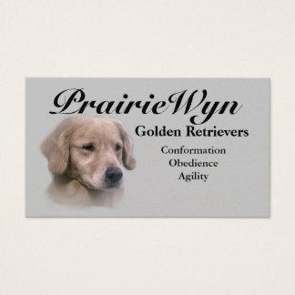 PrairieWyn Golden Retriever Business Cards