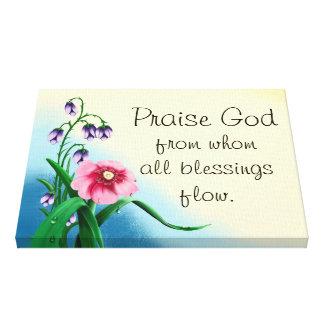 Praise God floral canvas