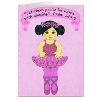 Praise His Name with Dancing 2~Scripture Card