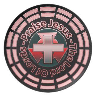Praise Jesus Lord Of Lords Melamine Plate