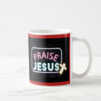 Praise Jesus Neon Sign Coffee Mug