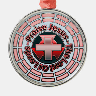 Praise Jesus The Lord Of Lords Christmas Ornament