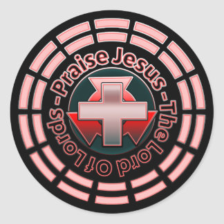 Praise Jesus The Lord Of Lords Round Sticker
