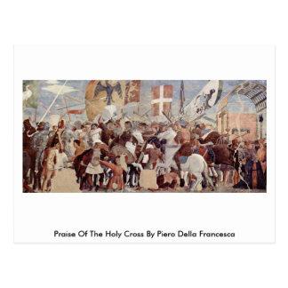 Praise Of The Holy Crossby Piero Della Francesca Postcard