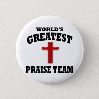 Praise Team 2 Inch Round Button