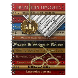 PRAISE TEAM NOTEBOOK - MUSIC BOOKS/GLASSES - Name