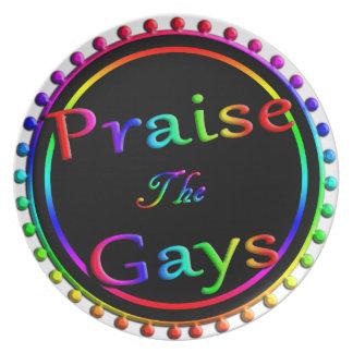 Praise the gays dinner plates