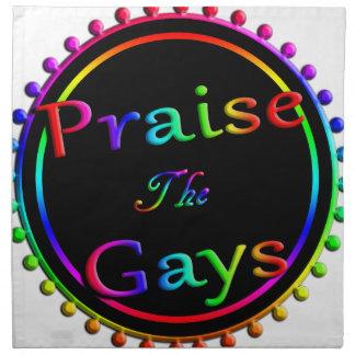 Praise the gays printed napkin